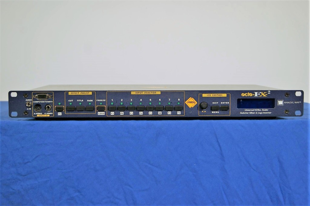 Analog-Way-OCTO-FX2-High-Resolution-Digital-and-Analog,-Computer-&-Video-Scaler-Seamless-Switcher