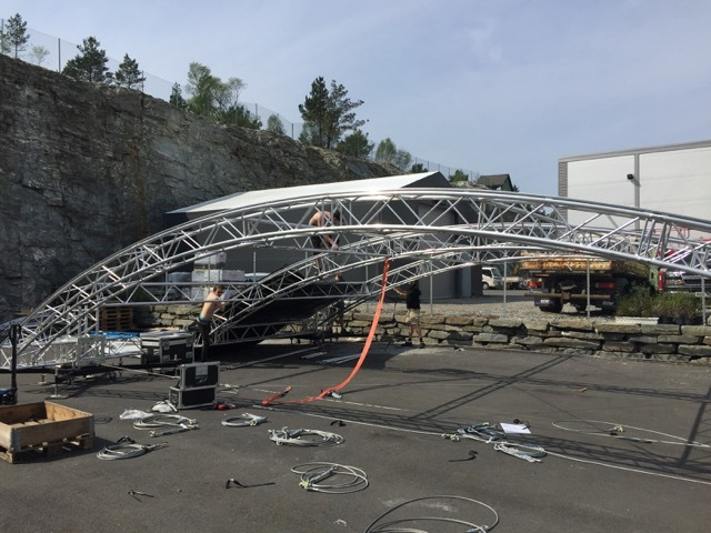 Miscellaneous - Europodium 12 x 8 x 20 M Ground support stage
