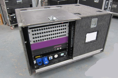 Sigma Fabrications 2 x 12U Stagebox Rack (Double Bay)