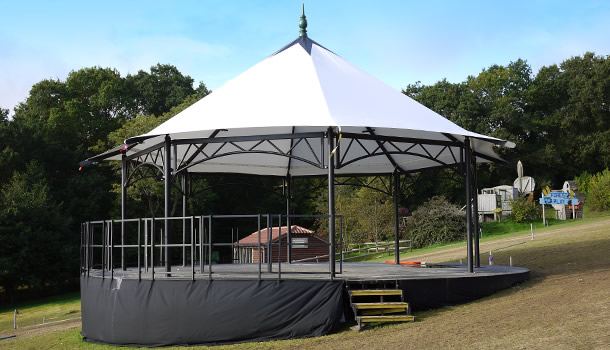 For sale Bandstand stage with 10 meter circular deck