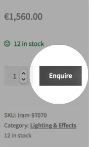 Use the enquire button for listing (product) enquiries