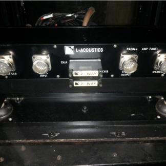 L-Acoustics RK12/4 + PAD04 touring case + connection panel
