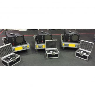 Set of 3 Barco SLM R12+ Projectors in Flight Cases plus a free 4th Projector in Flight Case for Spares