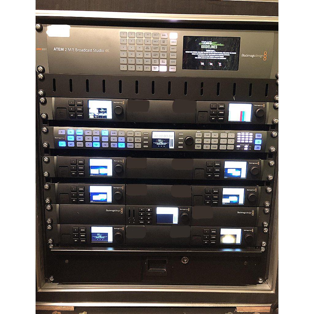 Blackmagic Atem 2 M E Broadcast Studio 4k 12g Production Rack Buy Now From 10kused