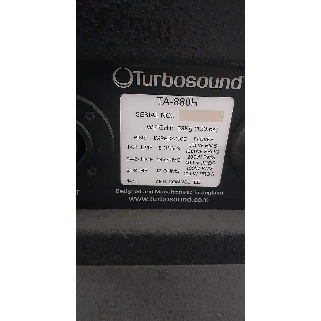 Turbosound TA-880H – Buy now from 10Kused