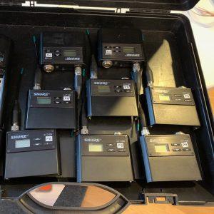 Shure Axient AXT100 Beltpacks (P8) Package (8)
