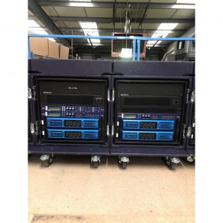MC2 Audio E100 Amplifier rack with XTA448 Processor
