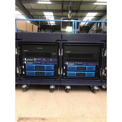 MC2 Audio E100 Amplifier rack with XTA448 Processor