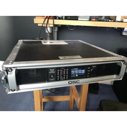 QSC PLD 4.2 Amplifier with 2u rack case and rear patch panel