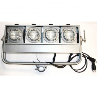 Eurolite Blinder 4-Lite horizontal, Silver lighting fixture set (6)
