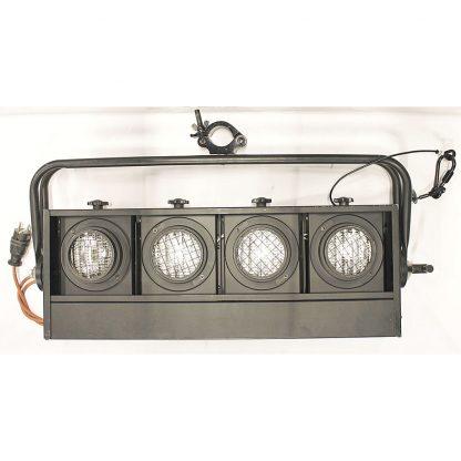 Eurolite Blinder 4-Lite horizontal, black lighting fixture set (6)